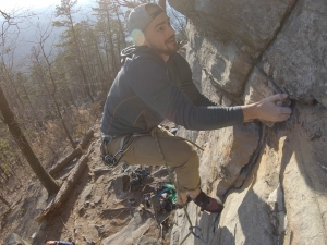 Spencer Dorsey rock climbing